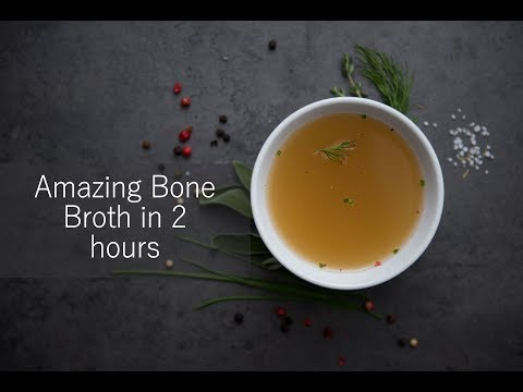 Amazing Chicken Broth for your dogs in just 2 hours