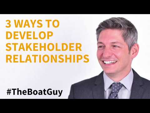 3 Ways To Develop Stakeholder Relatiionships