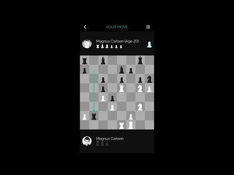 Magnus Carlsen vs. Himself at 20 on the Play Magnus Chess App