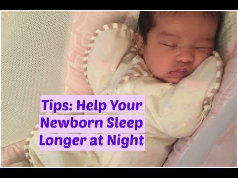 Tips: Help New Born Baby Stay Asleep Longer at Night | Ruth Navarro