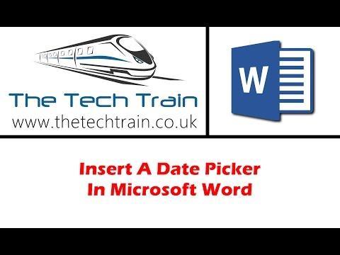 Insert A Date Picker In Microsoft Word