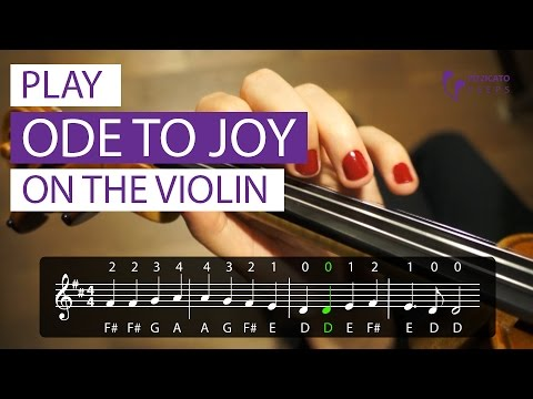 Play Ode to Joy on the violin [PLAY ALONG]