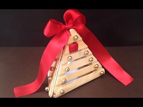Easy DIY Christmas Decoration Idea | DIY Christmas Ornament | X-Mas Pop sticks Crafts!