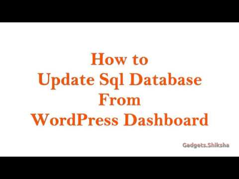 How to Update SQL Database from WordPress Dashboard