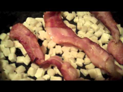 Making a Crock Pot Breakfast Casserole