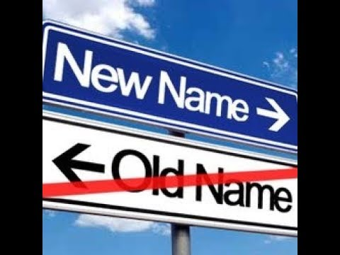 How to Change your name in gazette
