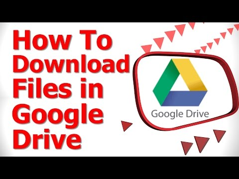 How To Download Files in Google Drive