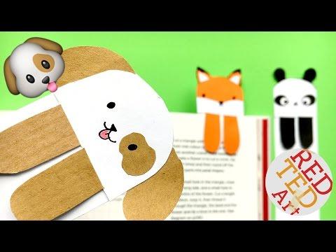 DIY - Cute and Easy Bookmark Ideas - How to make a Bookmark DIY - Kawaii Dog Emoji DIY - so CUTE!