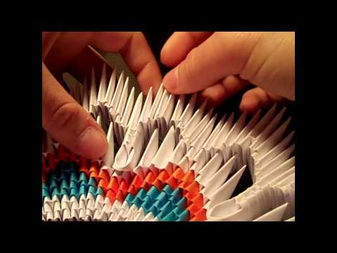 how to make a 3d origami vase 2