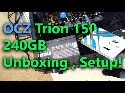 OCZ Storage Solutions Trion 150 Series 240GB Unboxing and Setup!