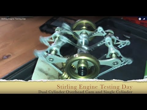 Stirling Engine - Testing Day off the shelf