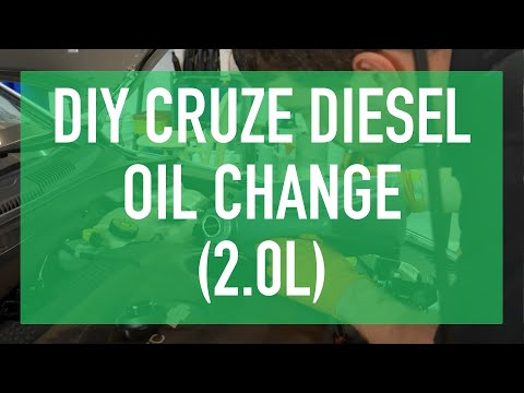 2014 Gen1 Chevy Cruze Diesel Oil Change