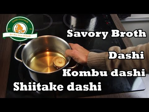 How to make Kombu dashi and shiitake dashi
