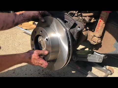 Replacing front brake rotors on a Ford 2007 F250