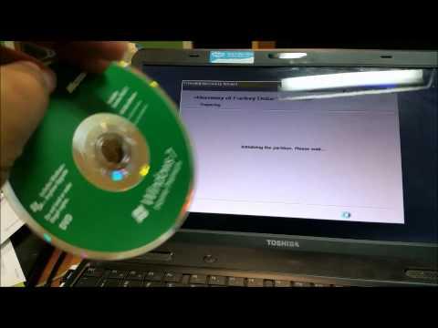 Toshiba Satellite Laptop Recovery Reload, how to Fix Toshiba laptop.