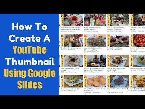 How To Create A YouTube Thumbnail Using Google Slides