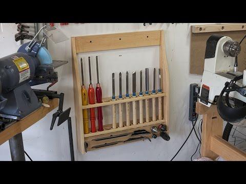Making a turning tool rack