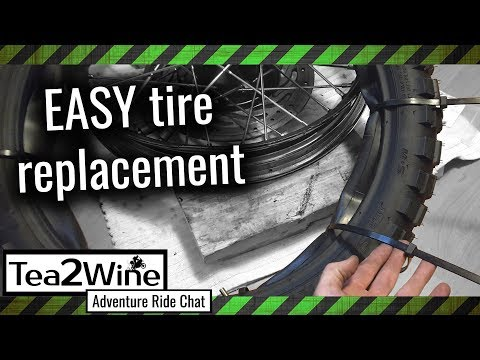How to change a motorcycle tire with a tube - Zip Tie TIP
