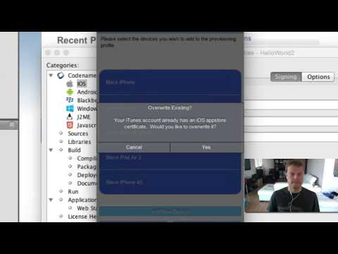 Codename One iOS Certificate Wizard Demo