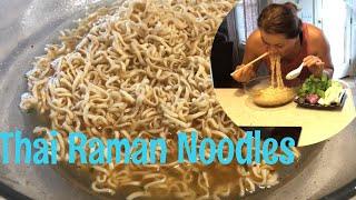Mom Eating Her Favorite Childhood Food| Thai Raman Noodles MAMA| MUKBANG