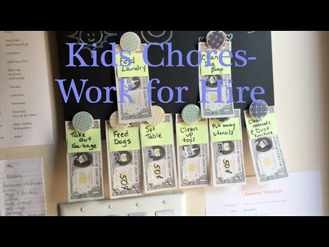 Kids Chore Chart: Work for Hire
