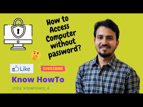 How to Access Your Computer if You Have Forgotten the Password - Part 1