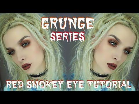 Grunge Series   Quick Red Smokey Eye