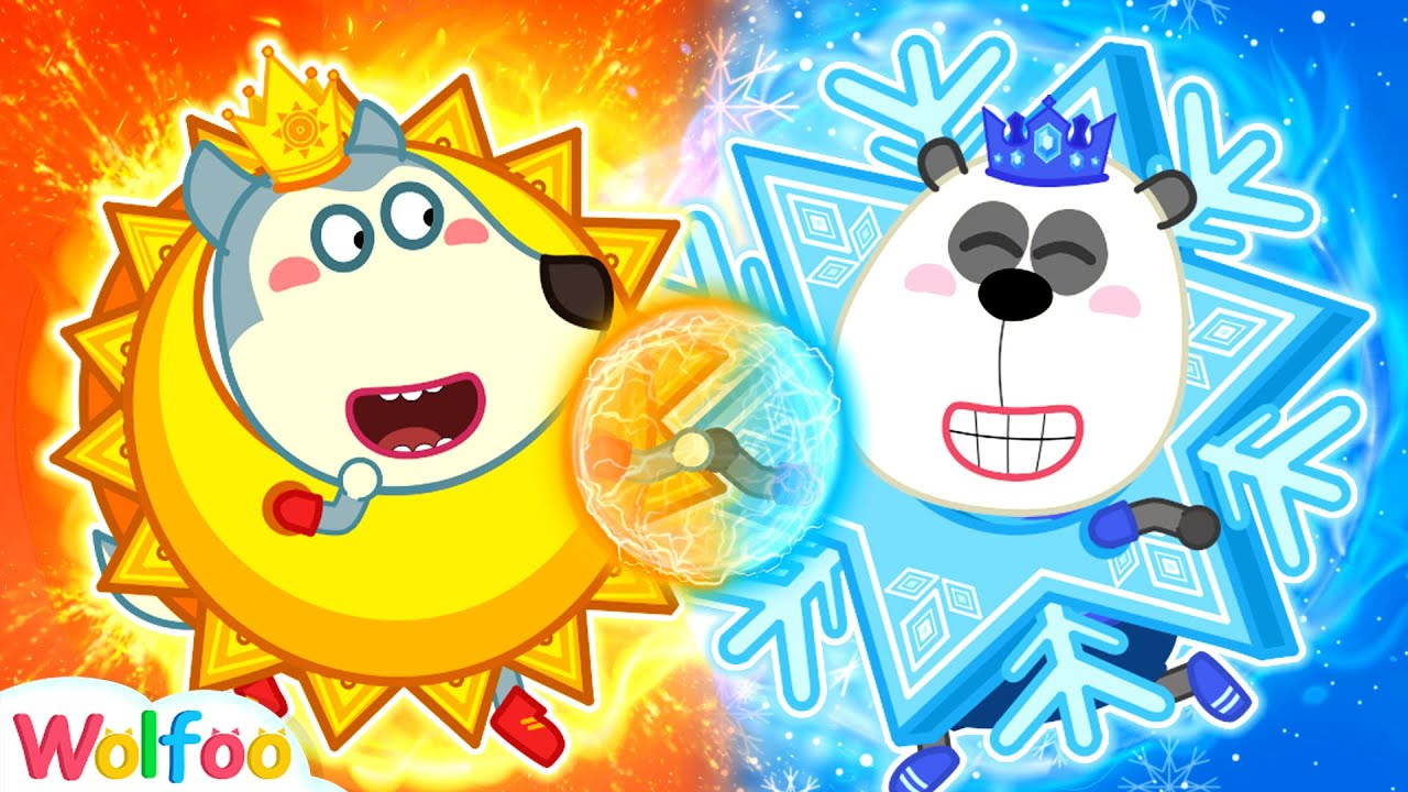 Hot vs Cold Challenge: Sun Wolfoo vs Ice Pando - Do You Like Hot or Cold? | Wolfooo Channel
