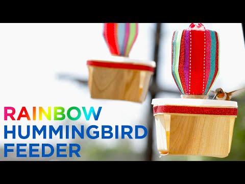 Rainbow Hummingbird Feeder