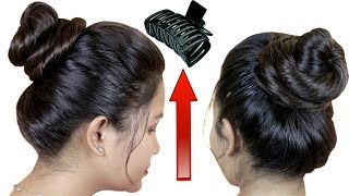everyday messy bun / how to Use /Tuck #Hair Clutcher to stay bun Up All Day Long
