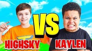 FaZe H1ghSky1 Vs FaZe Kaylen (Fortnite 1V1) YOUNGEST Members!!