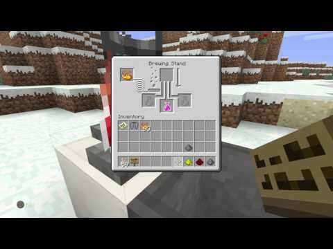 Minecraft: PlayStation®4 Edition How to make a Healing Potion!/Splash Potion