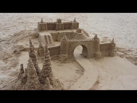Sandcastle Building Time-lapse Video