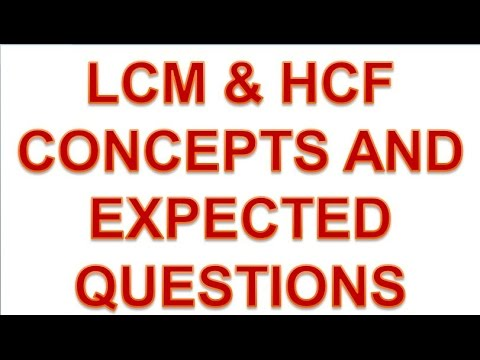 MATHS LCM AND HCF CONCEPTS & TRICK & EXPECTED QUESTIONS FOR SSC CGL AND SSC CPO DELHI SI