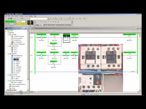 PLC Tutorial (RS Logix) #4 (FWD REV Motor Control Closed Loop)