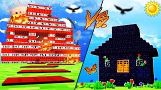 Minecraft - TNT HOUSE VS OBSIDIAN HOUSE