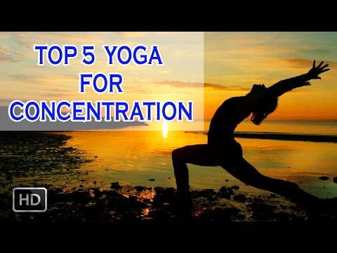 Top 5  yoga for Concentration and Memory -  Beginners Yoga to Improve Memory Power & Fitness