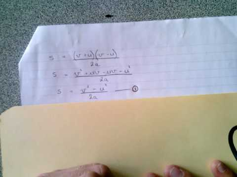 Defining the Formulas Explaining Motion