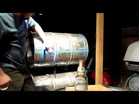 How to Build a Double Barrel Smoker - Part 6 - The Smoke Chamber Lid