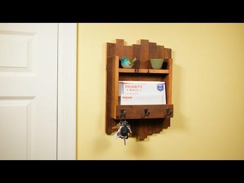 Build a Reclaimed Wood Key Hanger - Saturday Morning Workshop