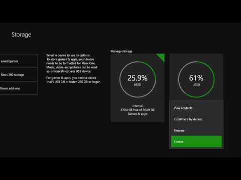 Xbox One S How To Delete Format External Drive