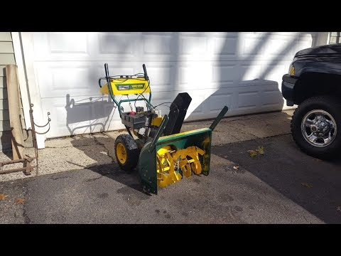 MTD snow blower auger gear case repair how to YardMan rescued from the curb!
