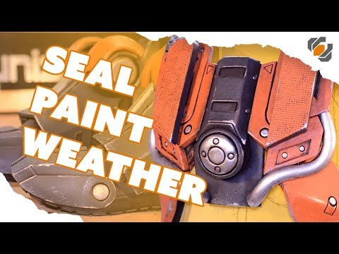 Sealing, Painting, and Weathering Foam Armor - Destiny Sweeper Bot Build