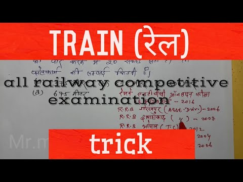 train chapter for railway competitive examination |train|Hindi 2018