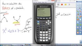 How To Find The Vertex Of A Parabola Using A Ti 84 Graphing Calculator