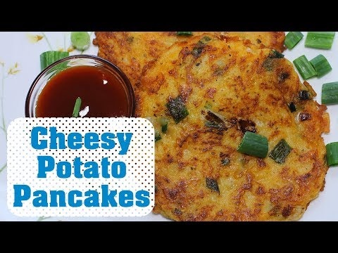Cheese Potato Pancakes Without Eggs | Easy Potato Pancake | Tea Time Snack Recipe
