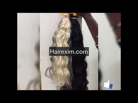 How to get Indian raw grey / silver hair / SingleDrawn from india (hairsalon)