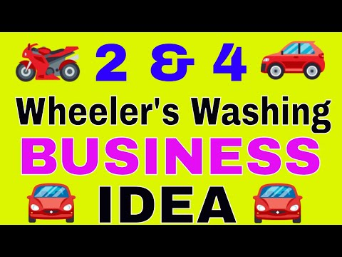 Start business in india with low investment | 2 & 4 Wheeler's Washing.