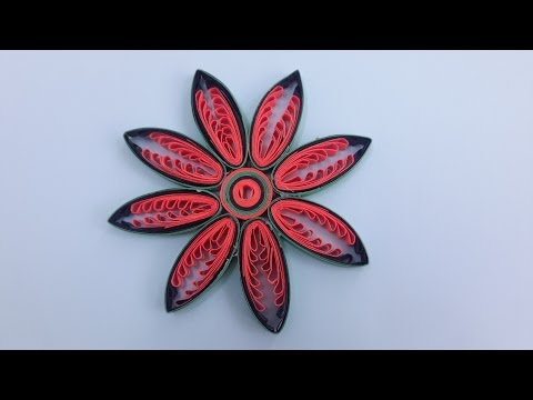 how to make Quilling Flowers using a hair comb by art life