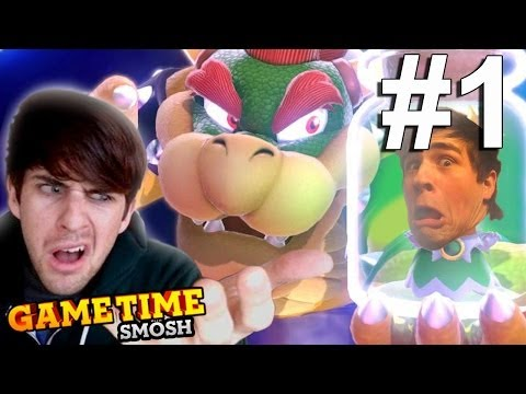 ACTING LIKE KIDS IN MARIO 3D (Gametime W/ Smosh)